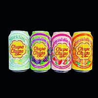 Chupa Chups Sparkling Drink 345 мл/ Grape/Strawberry Cream/Orange/Melon Cream