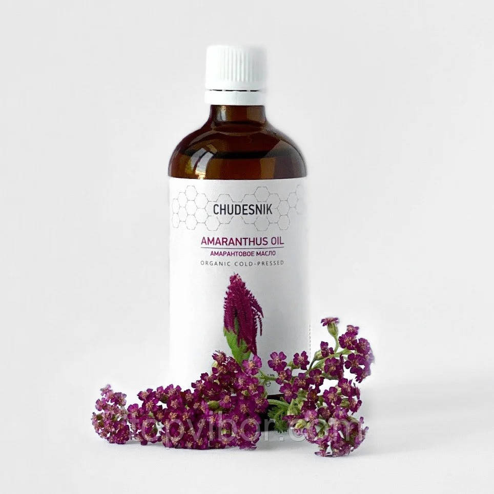 "Масло амаранта натуральне ""Сhudesnik"", органічна амарантова олія для обличчя та організму (амарантовое масло)"