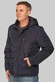 Стильна коротка синя куртка чоловіча з плащової тканини, розмір 50, 52,53, 54, 56, 58