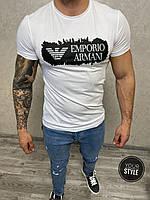 Біла чоловіча футболка Armani