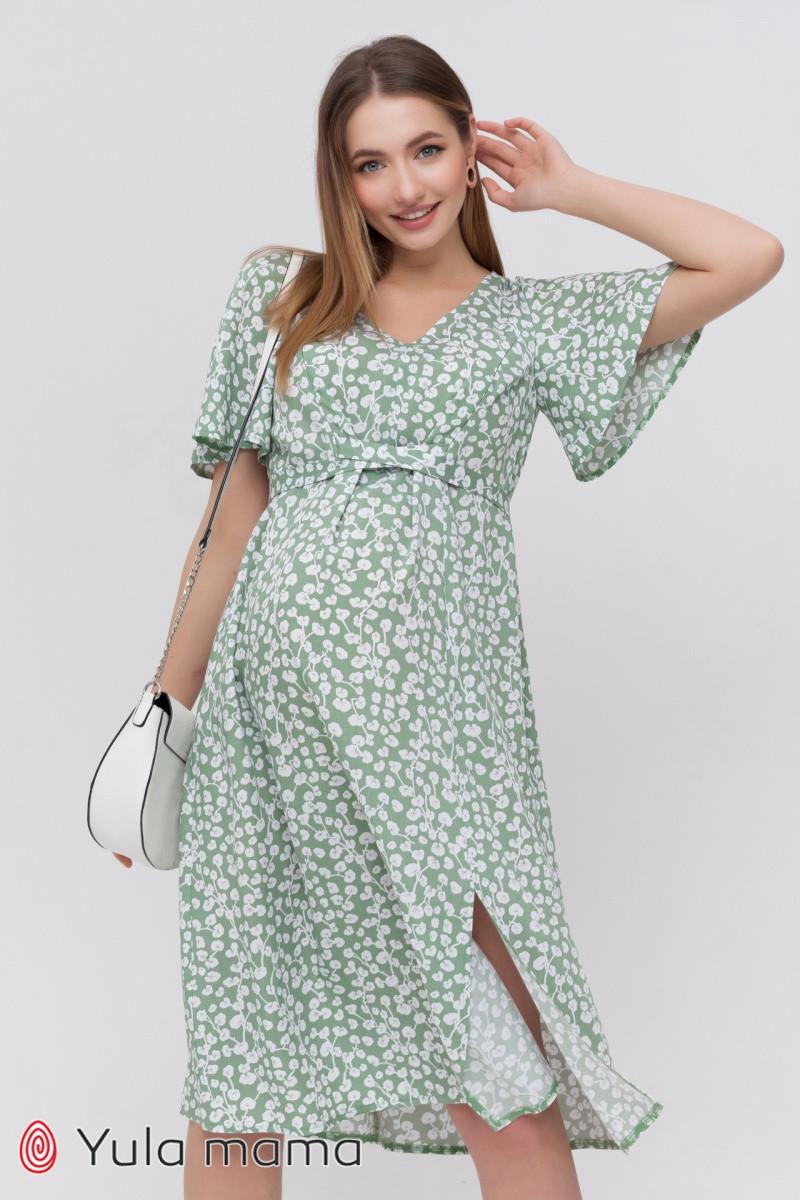 Платье с коротким рукавом для беременных и кормящих Vanessa DR-21.082 цветочный принт