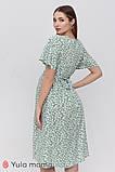 Платье с коротким рукавом для беременных и кормящих Vanessa DR-21.082 цветочный принт, фото 4