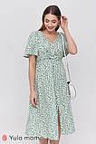 Платье с коротким рукавом для беременных и кормящих Vanessa DR-21.082 цветочный принт, фото 5