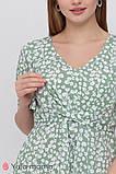 Платье с коротким рукавом для беременных и кормящих Vanessa DR-21.082 цветочный принт, фото 3