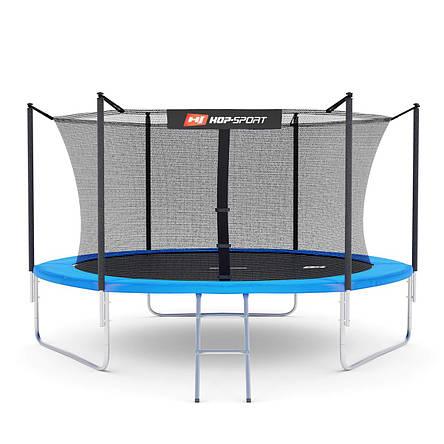 Батут Hop-Sport с нагрузкой до 150 кг 10ft (305cm) с внутренней сеткой, синий + Подарки, фото 2