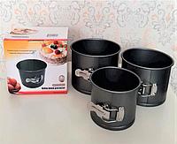 Формы для пасхи алюминиевые разъемные, набор форм для выпечки пасхальных куличей металлические с зажимом