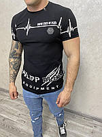 Чорна чоловіча футболка Philipp Plein