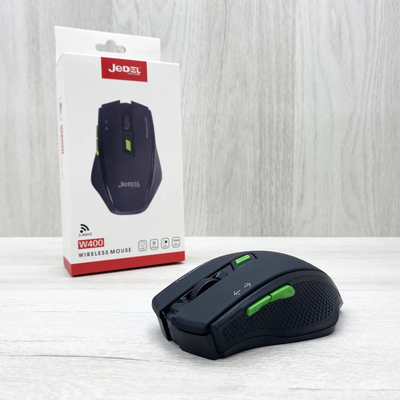 Бездротова оптична миша для ПК Jedel W400 Чорна