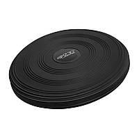 Балансировочная подушка массажная 4FIZJO Сенсомоторная Круглая PVC Черный (4FJ0051)