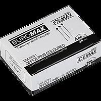 Шпильки кольорові JOBMAX 34 мм 100 шт в картонній коробці