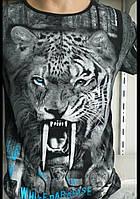 Мужская футболка оскал 3д