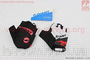 Рукавички без пальців XL чорно-біло-червоні, з м'якими вставками під долоню, НЕ оригінал