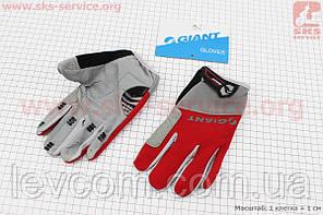 Рукавички XL сіро-червоні, з м'якими вставками під долоню, НЕ оригінал