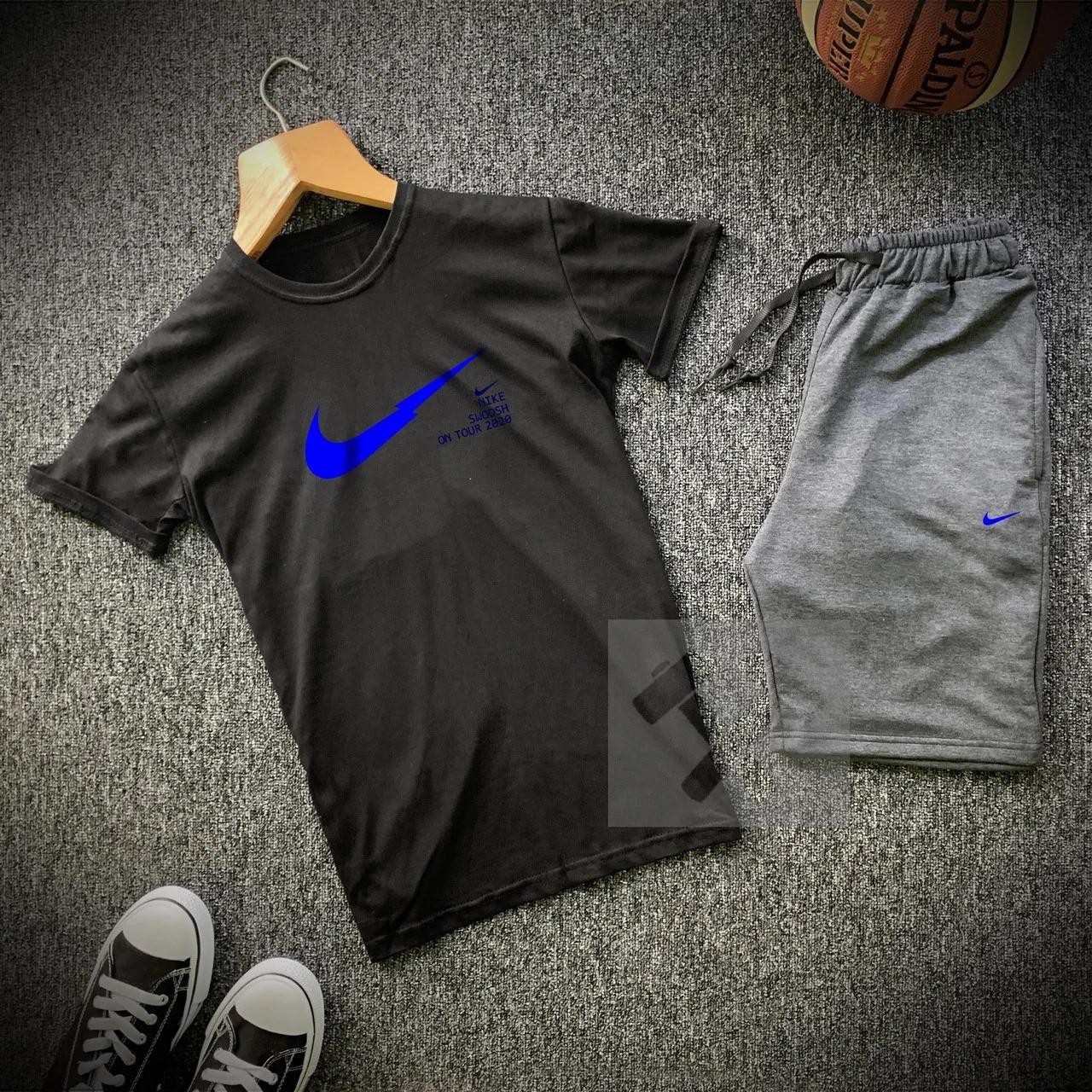 Футболка і шорти Nike чорного та сірого кольору