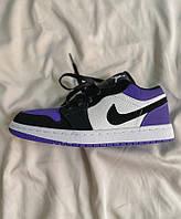Кроссовки женские и мужские Премиум качества Nike Air Jordan 1 Retro Low Violet