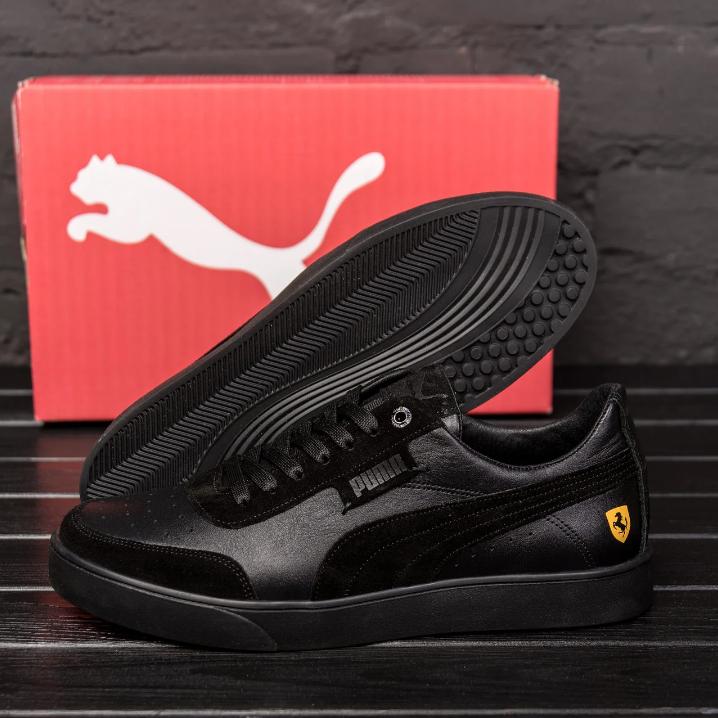 Чоловічі шкіряні кросівки Puma Ferrari чорні
