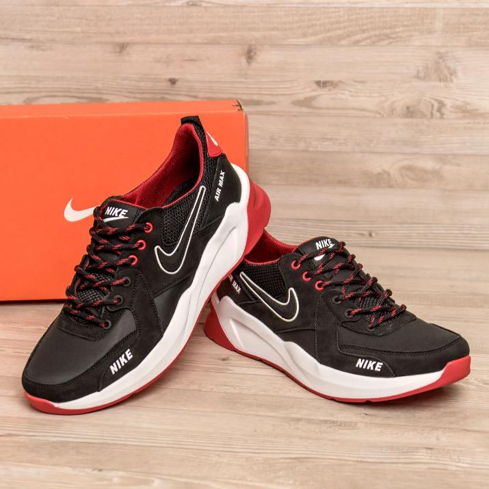 Чоловічі шкіряні кросівки Nike AIR Black MAX