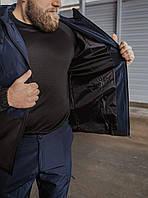 Костюм демисезонный мужской ветровка и штаны Softshell light Intruder S Синий с чёрным