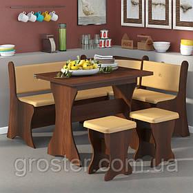 Кухонный уголок Маркиз с раскладным столом и 2 табурета