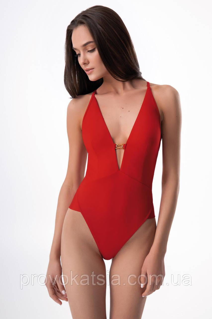 Женский красный слитный купальник бразилиана 6502/18 Florencia