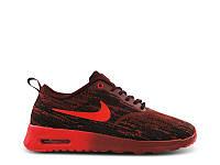 Кроссовки женские Nike Air Max Thea JTR  черно-красные кроссовки женские