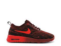 Кросівки жіночі Nike Air Max Thea JTR чорно-червоні кросівки жіночі