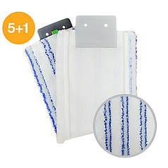Моп плоский из микрофибры Активная фаза Премиум White Sail язык насадка на швабру 40 см подходит к Filmop