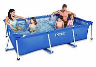 Каркасный бассейн сборный Small Frame Intex Прямоугольный каркасный бассейн для всей семьи Каркасный бассейн