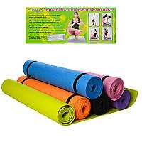Коврик для фитнеса Йогамат Гимнастический коврик для взрослых и детей Коврик для занятий дома или спортзале