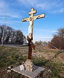 Поклонный крест из булата разных размеров 3м, фото 8