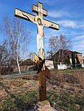 Поклонный крест из булата разных размеров 3м, фото 9