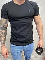Чорна футболка Lacoste