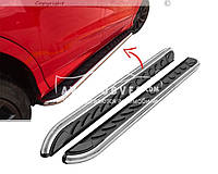 Автомобильные подножки Nissan X-Trail 2014-... (стиль Премиум)
