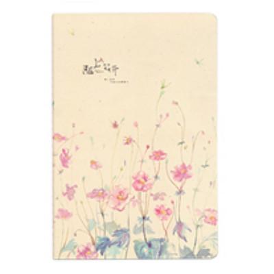 Зошит в лінію Рожеві квіти
