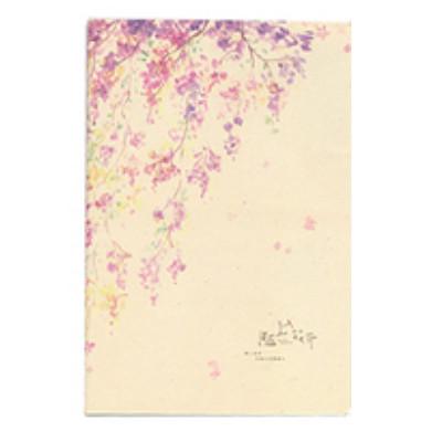 Зошит в лінію Фіолетові квіти