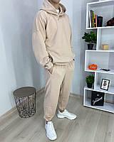 Спортивный костюм мужской бежевый сезон весна осень Оверсайз (oversize) от бренда Тур, размеры: XS,S,M, L, XL