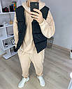 Спортивный костюм мужской бежевый сезон весна осень Оверсайз (oversize) от бренда Тур, размеры: XS,S,M, L, XL, фото 3