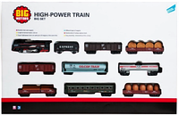 Игровой набор Big Motors Железная дорога с 9 вагонами