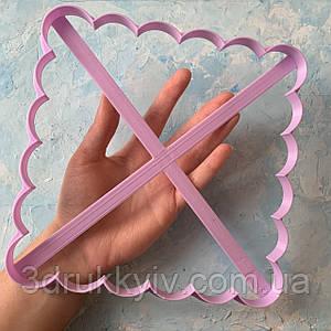 Вирубка Квадрат 20 см. / Вырубка - формочка для торта, коржей