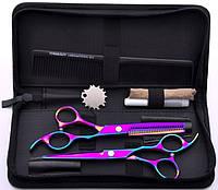 Парикмахерский набор ножниц инструментов профессиональный для парикмахера, хамелеон