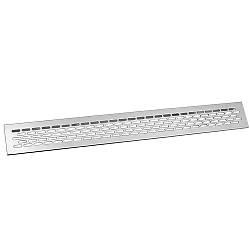 Решітка вентиляційна 480х60 мм GTV Алюміній (KK-W60800-M0)