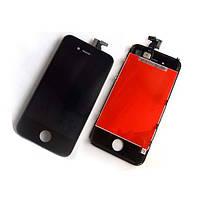 Дисплейный модуль (экран + сенсор) iPhone 4S чёрный (оригинал Китай)