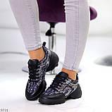 Кроссовки женские черные текстиль + силикон/ резина весна-лето-осень, фото 4