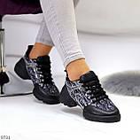 Кроссовки женские черные текстиль + силикон/ резина весна-лето-осень, фото 7