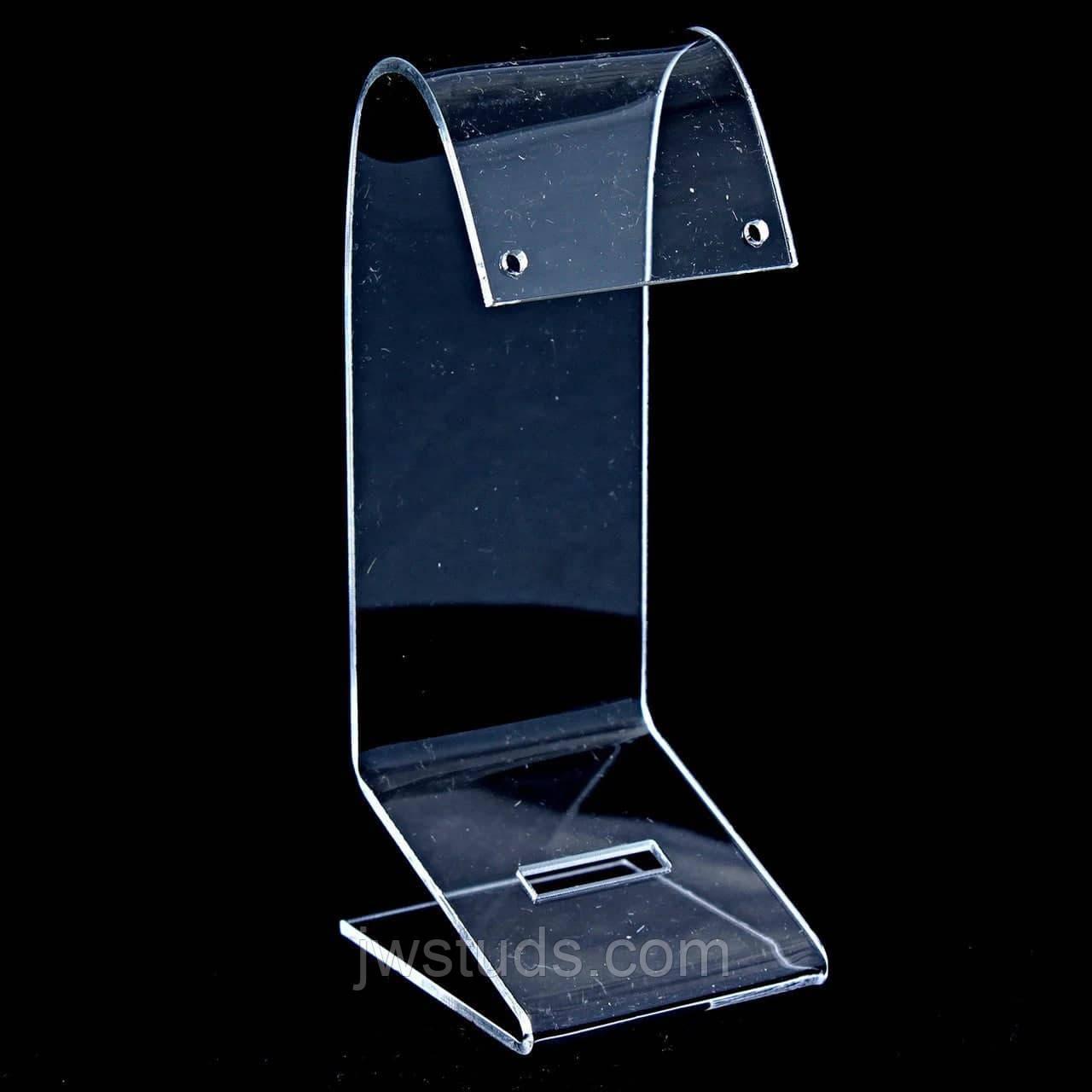 Подставка для серег колец прозрачный акрил гусь высота 120мм (торговое оборудование б/у)