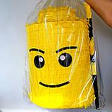 Пиньята лего lego голова бумажная для праздника Піньята лего конструктор голова паперова на день народження, фото 3