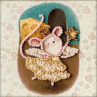 Магнит для вышивки бисером Крыса фея