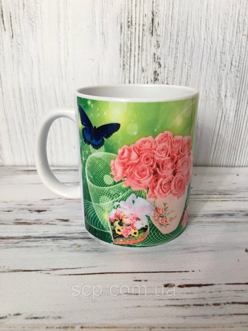 Подарочная чашка для бабушки