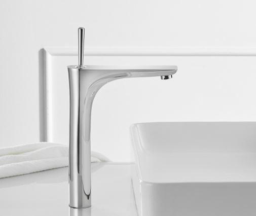 Смеситель для умывальника однорычажный кран горизонтальный монтаж WanFan для ванны Хромированный