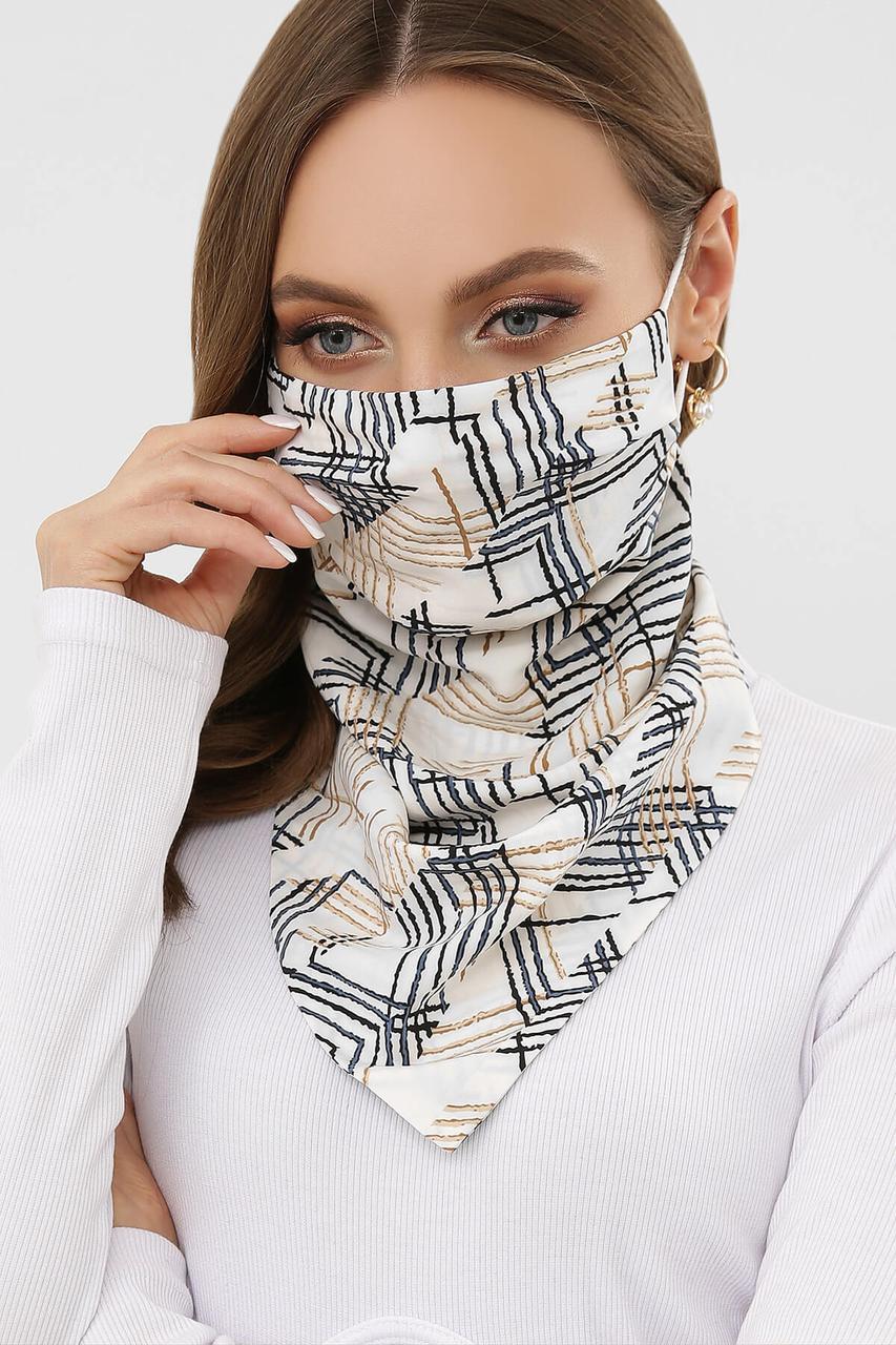 Шарф-маска на обличчя з візерунком